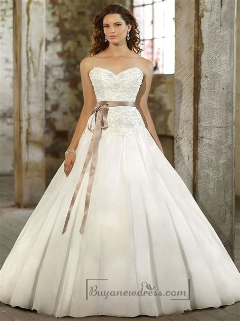 sweetheart a line beaded bodice wedding dresses with