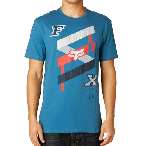 fox motocross shirts fox racing podium bound ss t shirt mens blue