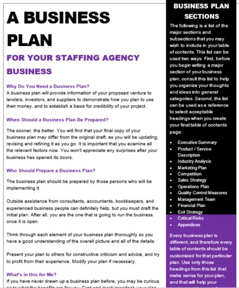 staffing agency business plan arecruitmentstore com