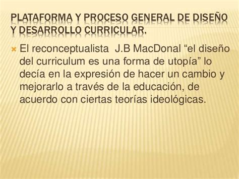 Modelo Curricular Reconceptualista Modelo De Dise 241 O Curricular De Corte Critico