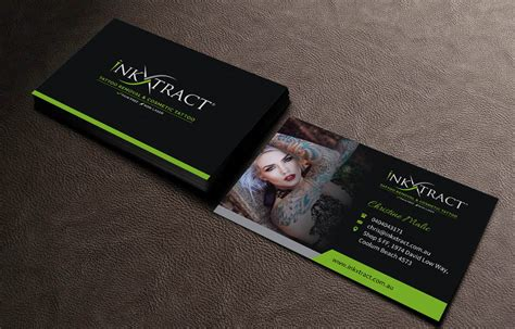 tattoo business cards business card design for extractatatt pty ltd by