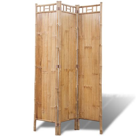 Bamboo Room Divider Vidaxl Co Uk 3 Panel Bamboo Room Divider