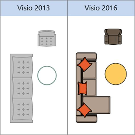 visio kitchen template what s new in visio 2016 visio
