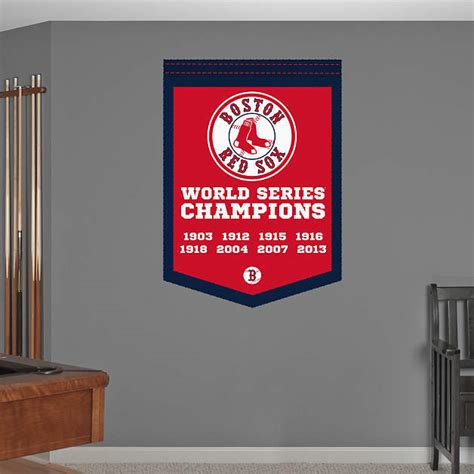 boston red sox world series chions banner fathead wall