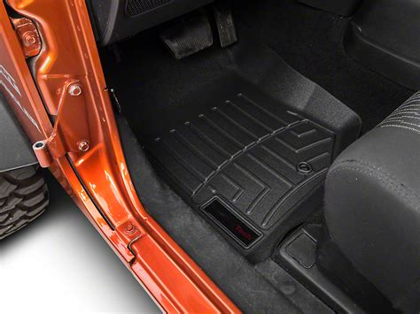 weathertech wrangler fitted black front floor liners 441051 07 13 wrangler jk free shipping