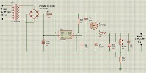 schema elettrico alimentatore switching alimentatore switching a tensione regolabile ne555