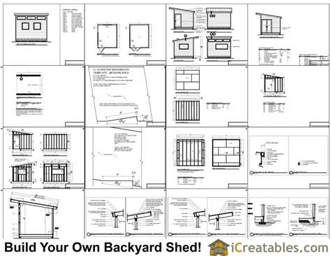 12 X 10 Shed Plans by 10x12 Shed Plans Free