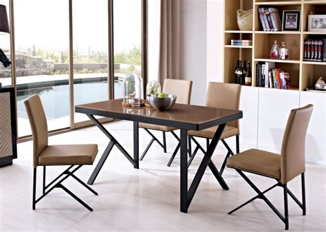 Wood And Stainless Steel Dining Table Stainless Steel Leg Oak Wood Top Dining Table In Dining Tables From Furniture On Aliexpress