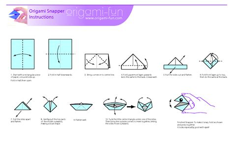How To Make A Paper Snapper - how to make a origami snapper 28 images origami lizard