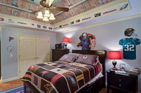 vintage sports themed boy s bedroom traditional 24 teen boys room designs decorating ideas design