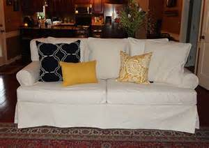 Slipcover For Pillow Back Sofa 12 Best Images About Slipcover Magic Before Afters On Traditional Sectional