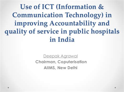 ict information communication technology use of ict information communication technology in