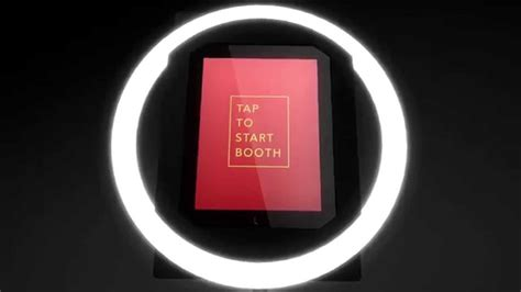 ring light photo booth halo by simple booth the ultimate ipad photo booth youtube