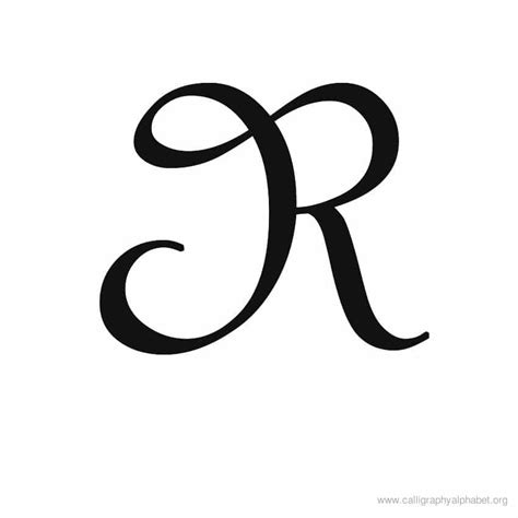 R Drawing Images by Calligraphy Alphabet R Alphabet R Calligraphy Sle