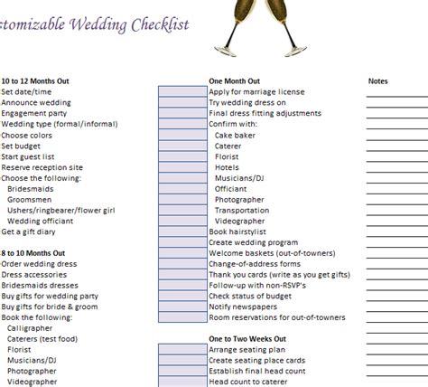 Wedding Checklist What I Forgotten by Customizable Wedding Checklist 187 Template
