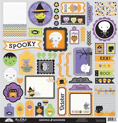 doodlebug ghouls and goodies doodlebug design ghouls and goodies this and that stickers