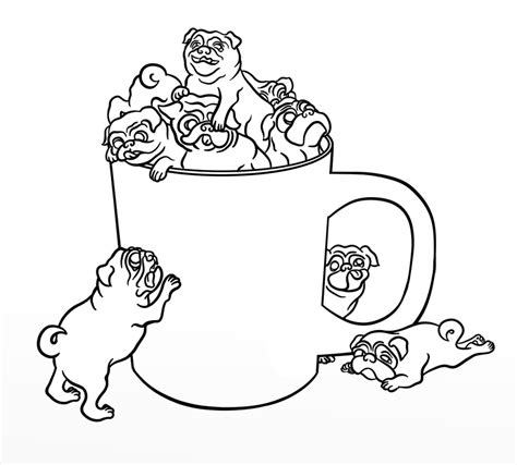 Free Pug Card Template by Pug Coloring Pages Best Coloring Pages For