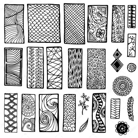 for doodle template collection of geometric floral doodle pattern geometric