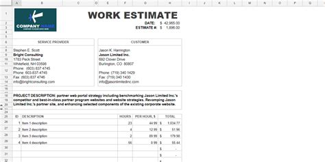 Every Free Estimate Template You Need The 14 Best Templates Free Project Estimate Template