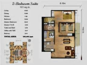 polo towers 2 bedroom suite bedroom at real estate