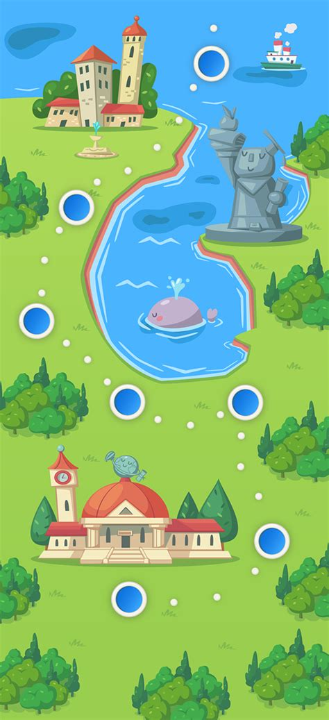 design game map dr newton mobile game world map on behance