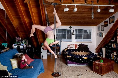 photographer tom sanders portraits of pole dancers at