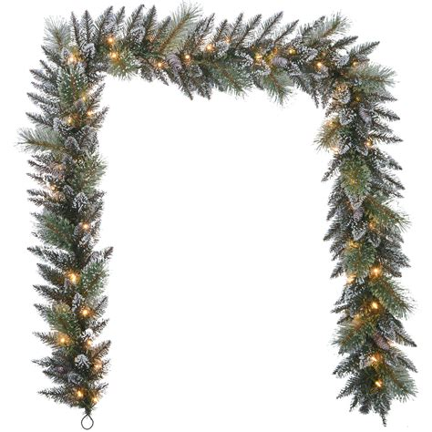 elegant lighted garland donner blitzen incorporated 9ft garland with 50 warm white led lights