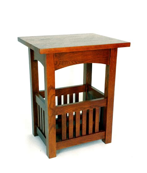 mission style accent table mission style oak end table by wayborn in side tables