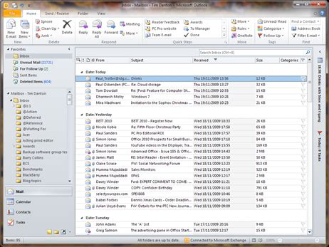 Search All Emails In Outlook 2010 Microsoft Outlook 2010 Screenshots Alphr
