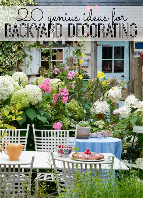 decorating ideas for genius backyard decoration ideas