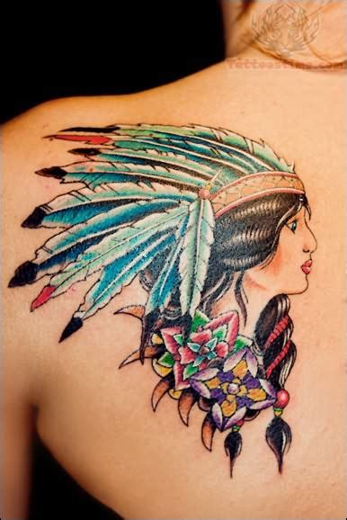 native american woman tattoo american images designs