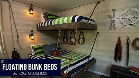 floating bunk beds tutorial knock   diy project