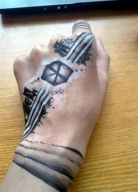 chanyeol tattoo sticker exo tattoo www pixshark com images galleries with a bite