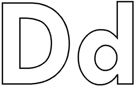 Letter D Coloring Page free coloring pages of letter d