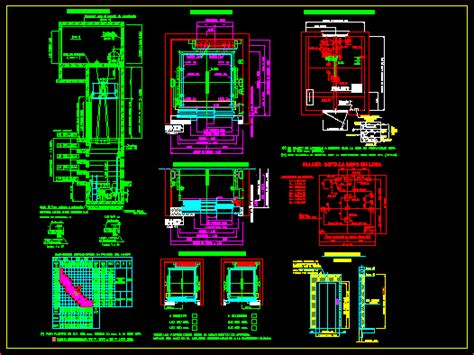 elevator details dwg section  autocad designs cad