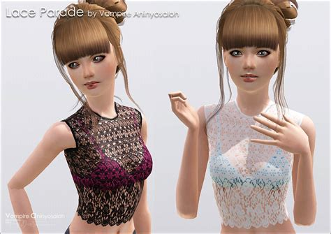 lace shirt the sims 4 mod the sims lace parade lace top