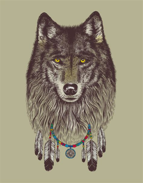 wolf dreamcatcher tattoo tumblr 1k art trippy wolf psychedelic fuckyeahpsychedelics