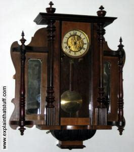 wall mounted grandfather clock how do pendulum clocks work explain that stuff