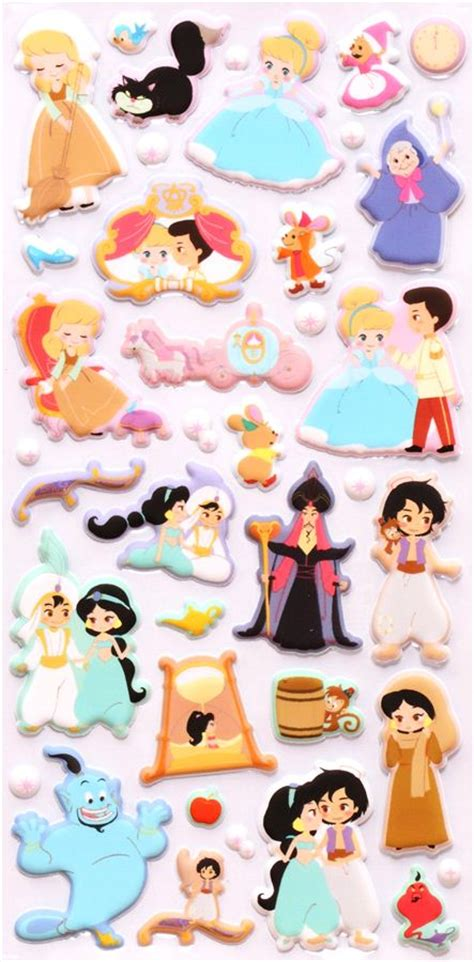 Cute Animal Mugs disney 3d sponge sticker book set aladdin cinderella cute