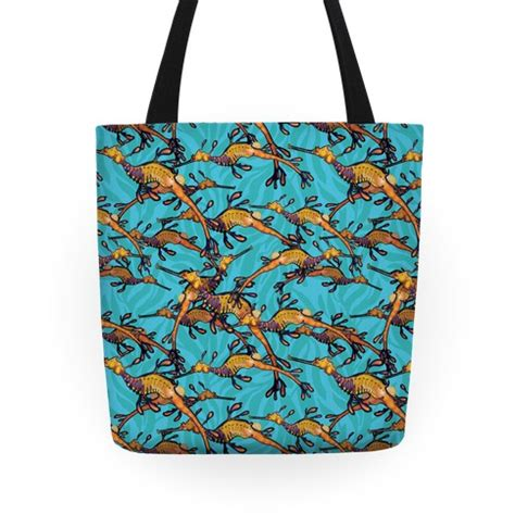 nautical tote bag pattern weedy sea dragon nautical pattern totes human