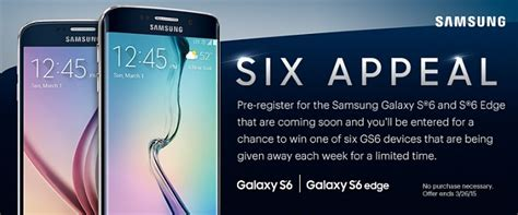 leaked image of a promotional advertisement for the samsung galaxy s6 and galaxy s6 edge