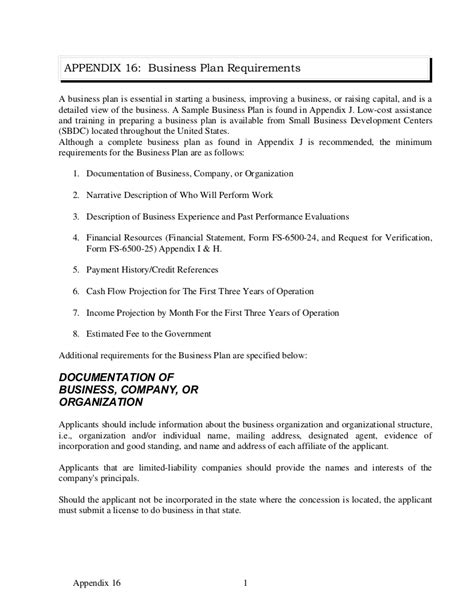 format of business plan appendix 16 sle business plan