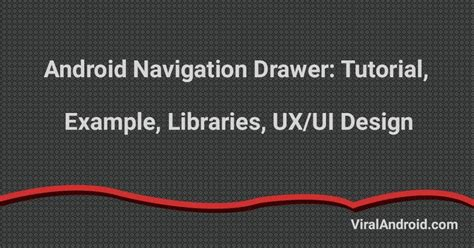 tutorial android navigation drawer android navigation drawer viral android tutorials