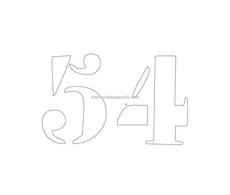 printable curb number stencils free curb painting 54 number stencil freenumberstencils com