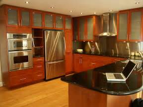 Interior Kitchen Inspiring Home Design Stainless Kitchen Interior Designs With Hardwood Floors