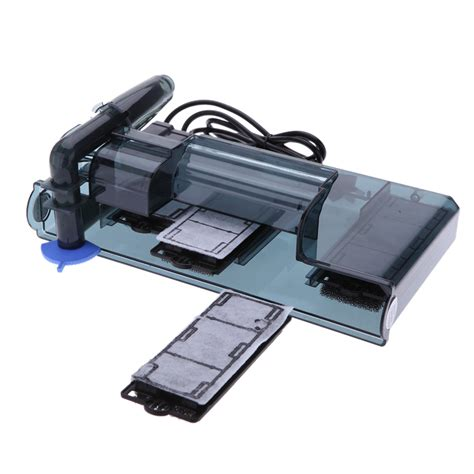 membuat filter aquarium dengan aerator 3 5w aquarium waterfall filter external fish turtle tank