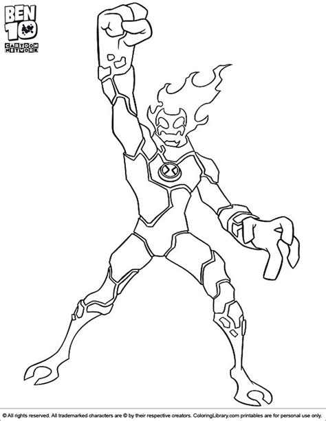 ben 10 four arms stands tall and proud coloring page sea minicraft ben 10 free coloring pages