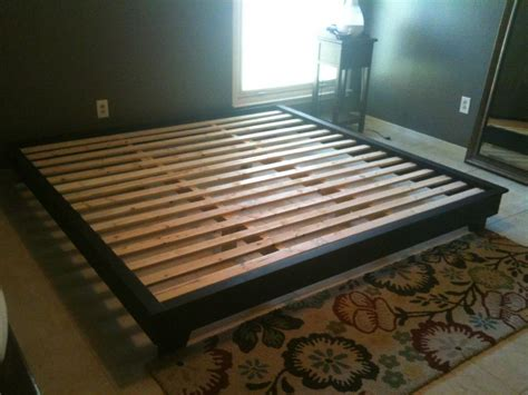 white king sized hailey platform bed diy projects