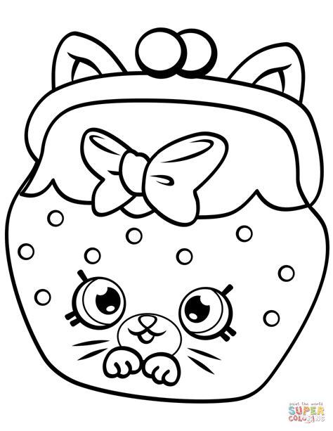 Shopkins coloring pages season 5 petkins cat snout shopkin peta