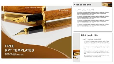 powerpoint themes poetry fountain pens business powerpoint templates